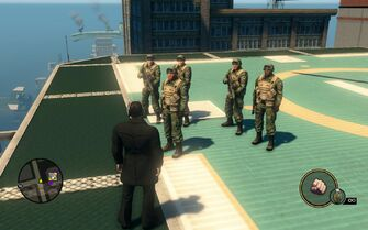 SNG soldiers - 5 on Saints HQ helipad in Saints Row The Third