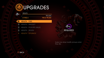 Upgrades in Saints Row Gat out of Hell - health