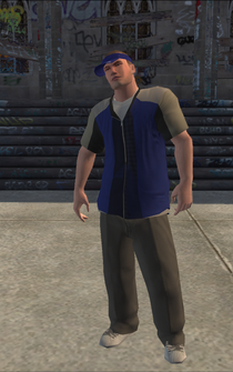 Westside Rollerz male Thug1-01 - intro wra - character model in Saints Row