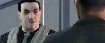 Eric Gryphon in Milestone Goal Failed cutscene