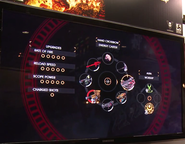 Gat out of Hell Gameplay Demo 0809 Weapon - 'Hand Crossbow' (Costume - 'Energy Caster'), Power - Aura Worship