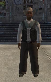 Cowboy - black-vest - character model in Saints Row