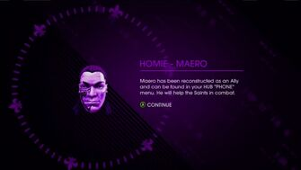 Maero unlocked as a Homie in Saints Row IV