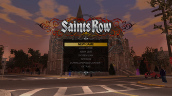 Saints Row Main Menu