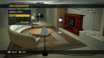 Saints Row Mega Condo - Crib Customization - Overall Style - Average