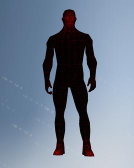 Saliarar cyberhittarget character model in Saints Row IV
