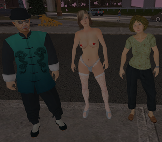 Homies in Saints Row - Mr. Wong, Samantha, and Laura