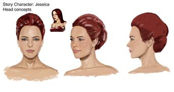 Jessica Concept Art 07 - Hair concept