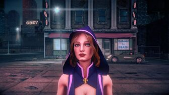 Kinzie - Face as Super Powered Homie in Saints Row IV