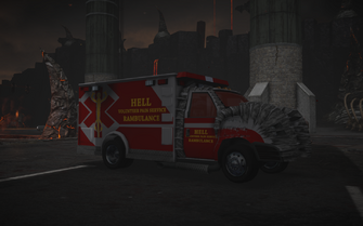 Rambulance - front left in Saints Row Gat out of Hell