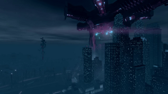 Saints Row IV Main Menu background - Steelport Downtown
