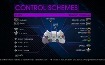 Saints Row IV On Foot Controls 1