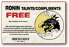 Taunts and Compliments - Ronin unlocked