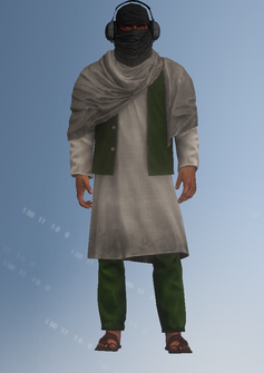 Al Qaeda Militia 2 - headphones - character model in Saints Row IV