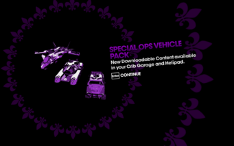 DLC unlock SRTT - Special Ops Vehicle Pack
