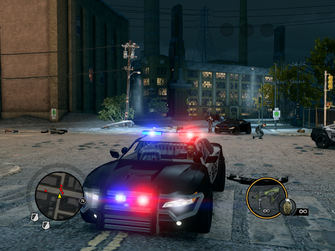 Peacemaker front in Saints Row The Third