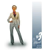 White suit Shaundi in Saints Row The Third Concept Art
