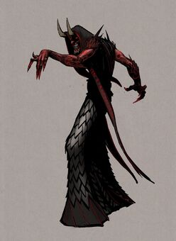 Dark Inciter Concept Art - hunched, pointing