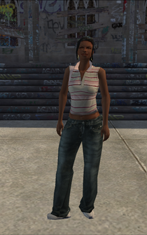 Generic black female - bl5 - character model in Saints Row