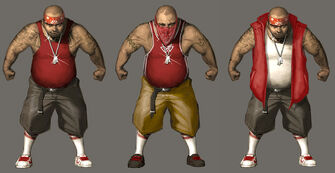 Los Carnales Concept Art - three versions