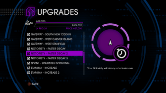 Upgrades menu in Saints Row IV - Page 2 of Abilities