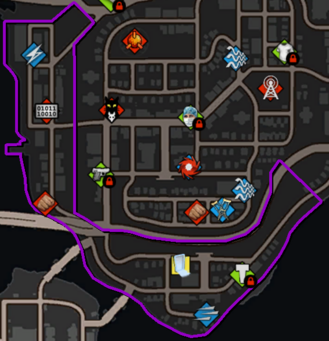 Espina map in Saints Row IV