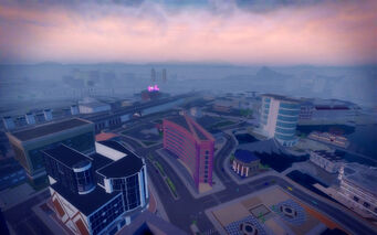 Harrowgate in Saints Row 2 - aerial view