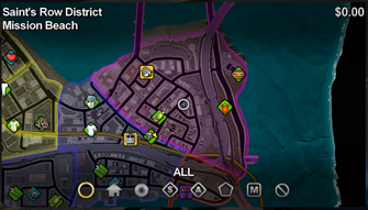 Mission Beach map in Saints Row