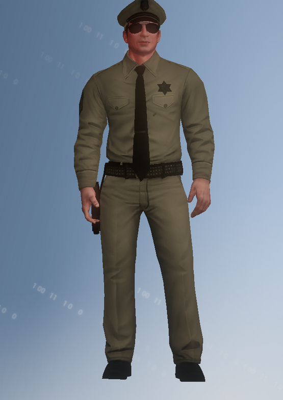 50s policeman light - character model in Saints Row IV