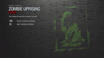 Zombie Uprising failed
