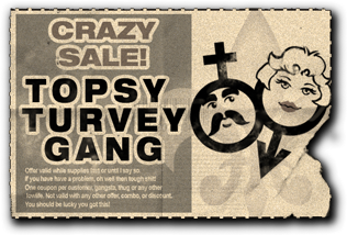 Gang Customization in Saints Row 2 - Crossdressers gang unlock coupon