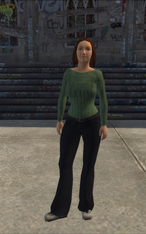 Generic young female 02 - whiteSleeve - character model in Saints Row