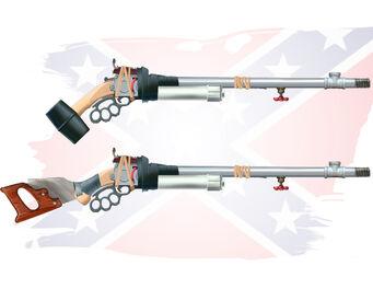 Hillbilly Pump-Action Shotgun Concept Art