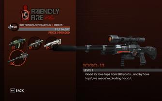 TOGO-13 - weapon description