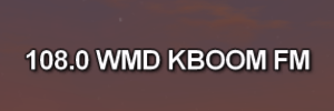 108.0 WMD KBOOM FM onscreen text