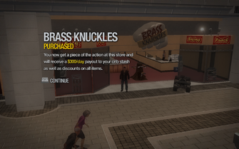 Brass Knuckles in Rounds Square Shopping Center purchased in Saints Row 2