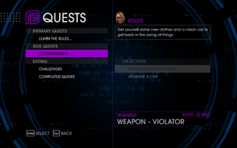 Quests Menu - Customization