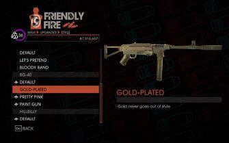 SR4 Heavy SMG BG-40 gold