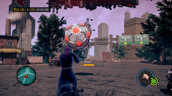 TK Mayhem Wrecking Ball in Air - Saints Row IV