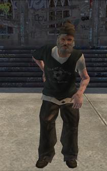 Bum - intro bum - character model in Saints Row