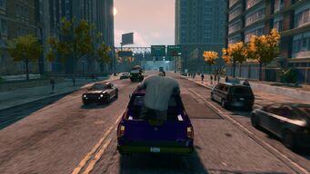 Oleg catching a ride
