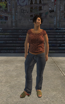 PoorHeavy female - TrainyardHairSalon - character model in Saints Row