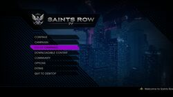 Saints Row IV Co-op Menu