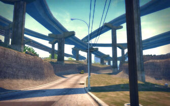 The Mills in Saints Row 2 - road