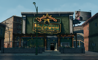 Broken Shillelagh exterior in Saints Row The Third