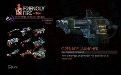 Grenade Launcher in Friendly Fire in Saints Row IV