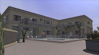 Lopez Mansion in Saints Row - Back Exterior