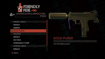 Weapon - SMGs - Rapid-Fire SMG - Magna 10mm - Gold-Plated