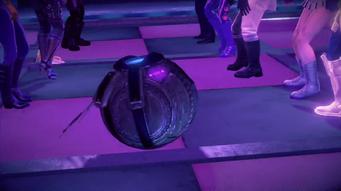 Grand Finale end dance cutscene - CID on the floor