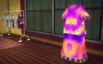 Prawn Court in Saints Row 2 - On The Rag hippy dress